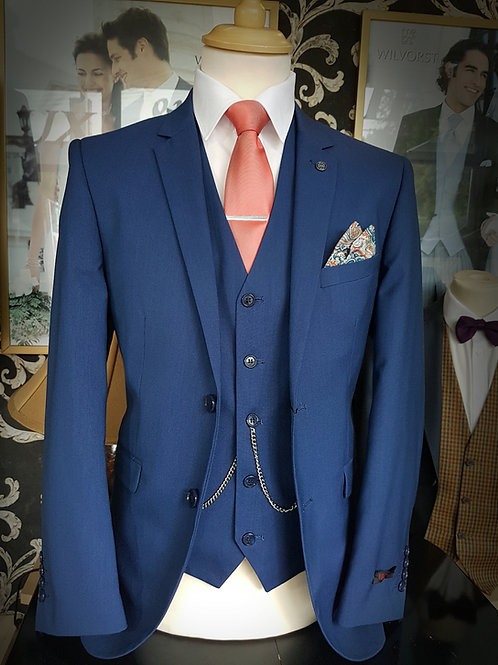 Cypress Navy Blue 3 Piece Suit by Vichi