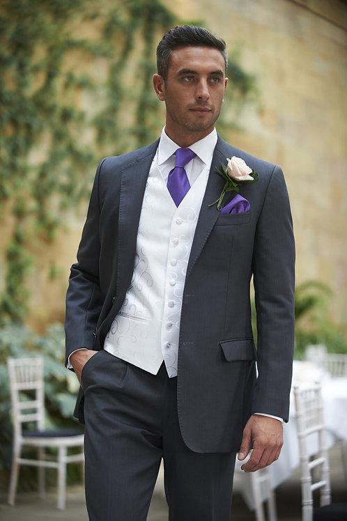 Charcoal Herringbone Lounge Suit