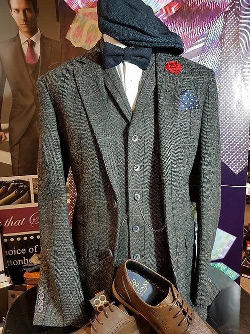 Albert Grey Tweed 3 Piece Suit