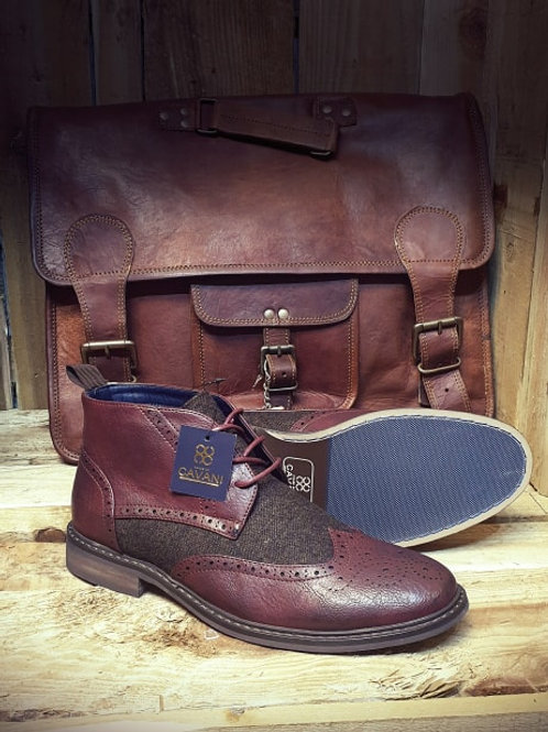 Curtis Wine Bordo Lace Up Boot