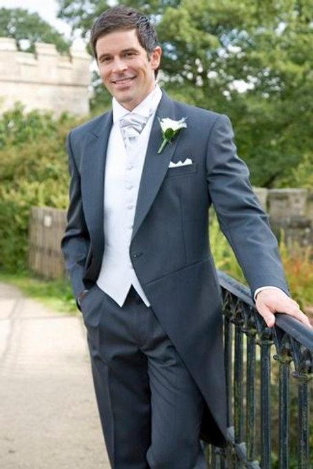 Charcoal Herringbone Tailcoat