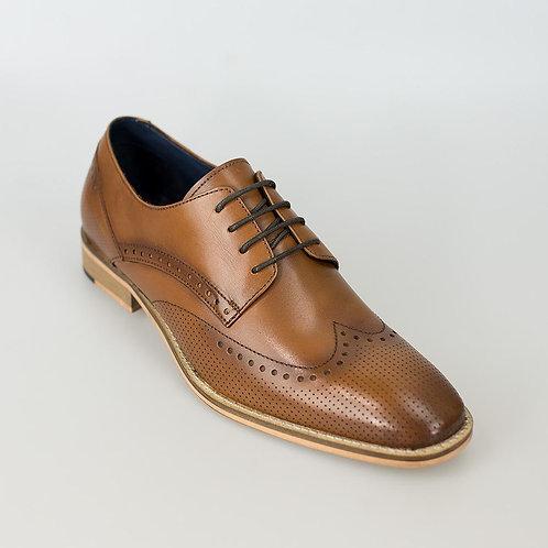 Rome Tan Brogue Shoe