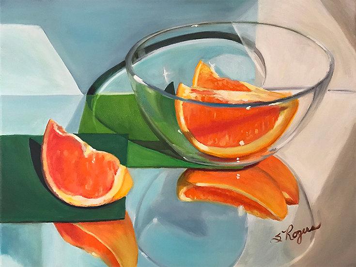 Glass and Orange