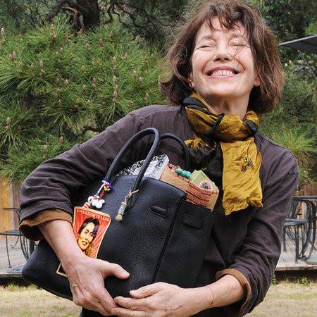Jane Birkin with her bag