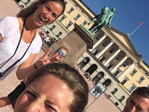 Visiting Royal Palace, Oslo