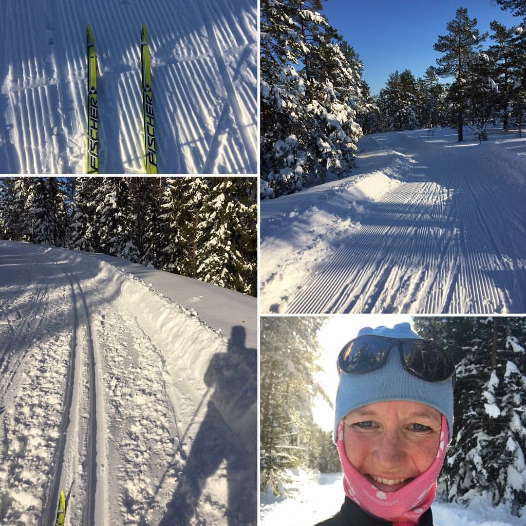 Skiing in wintertime