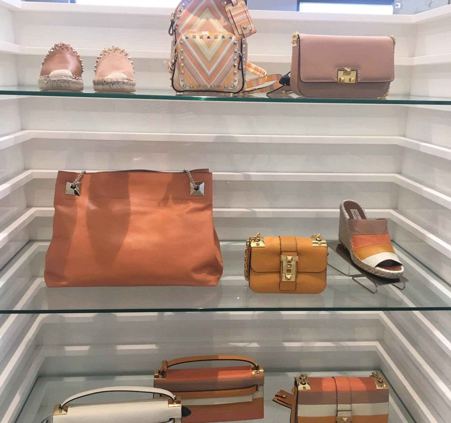 Luxury shopping at Valentino