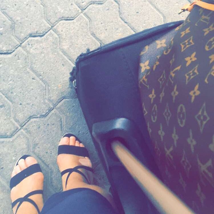 Traveling with my Louis Vuitton