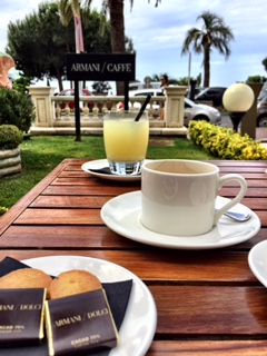 Breakfast at Armani in Cannes