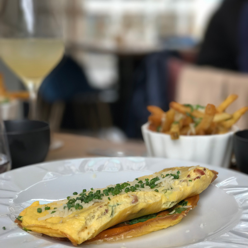 Omelette for breakfast