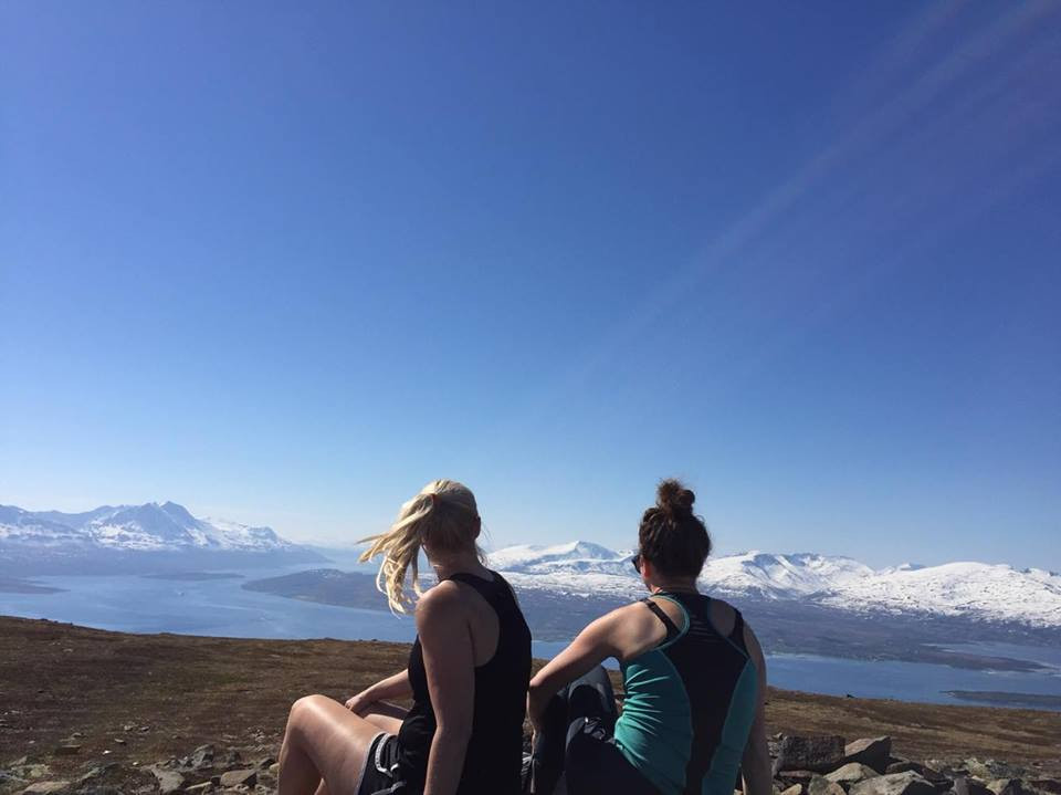 The girls at the top of the mountain. Photo: Emma Eriksson