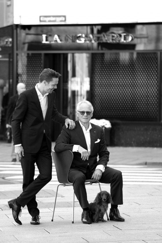 Conrad Langaard sr and his son Conrad Langaard jr.