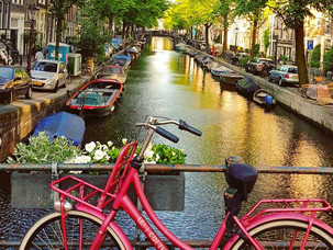 Sykkeltur i Amsterdam