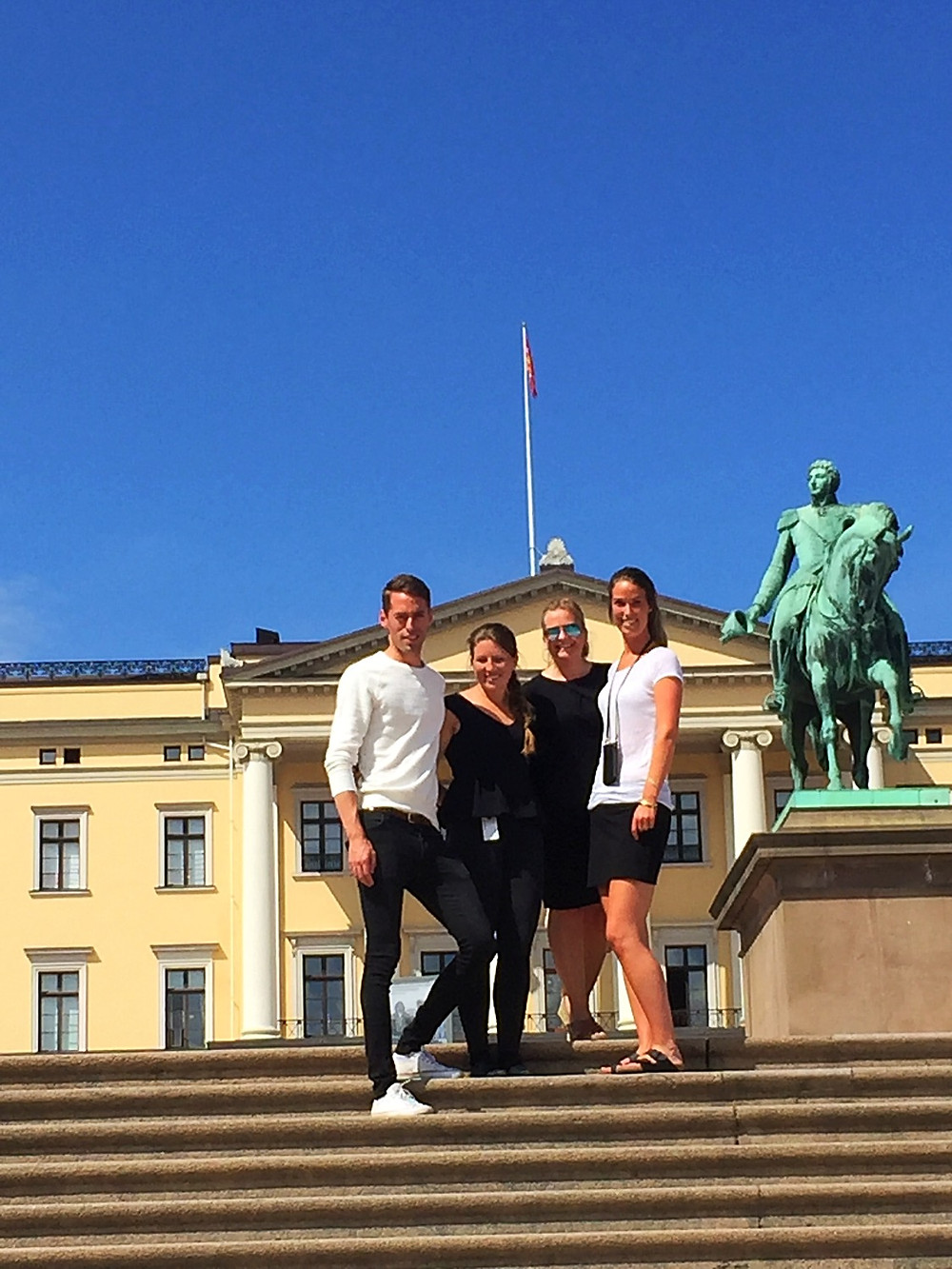 The Royal palace in Norway