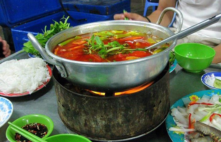 Vietnamese hot pot in Phan Thiet