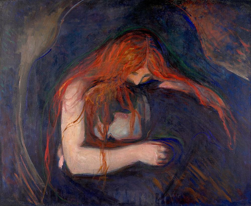Vampyr by Edvard Munch