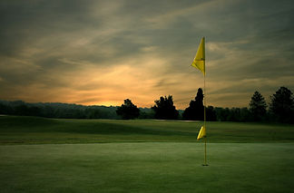 Evening picture - golf