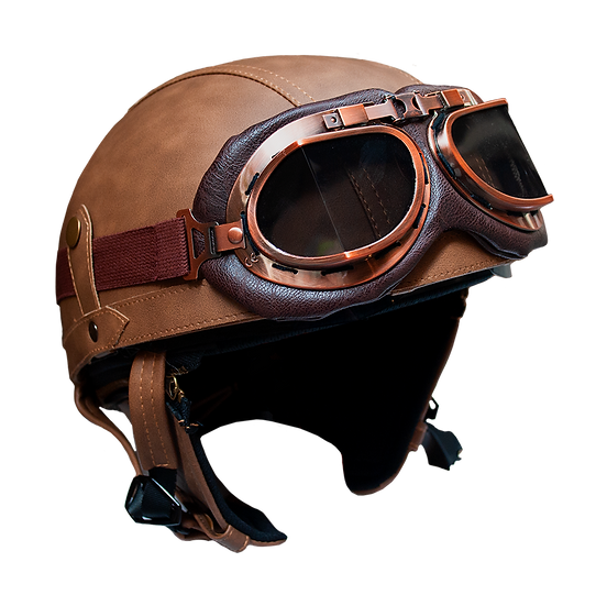 HELMET 1/2 face WITH GLASSES