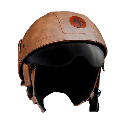 Leather HELMET 1/2 Face