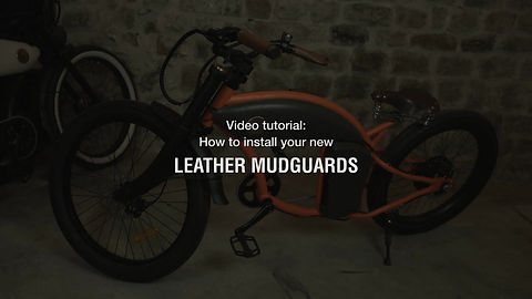 Rayvolt Bike - Cruzer Leather Mudguard tutorial
