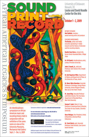 2009: SOUND/PRINT/RECORD Symposium Poster