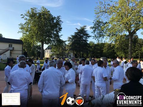 Soirée blanche 2019 du Club des Cent Cravates @ Le Mans Country Club @ Yvré l'Evêque. Soirée excepti