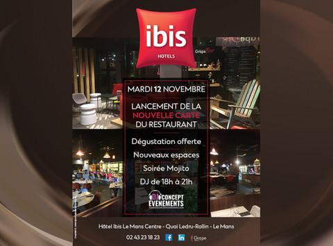 Présentation de la nouvelle carte du restaurant de l'Hôtel IBIS Le Mans Centre @ Quai Ledru-Rollin.