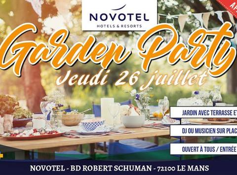 Garden Party @ Pool n Bar @ Novotel Le Mans. Afterwork de 18h à 22h ;-) Lieu raffiné et tendance ave