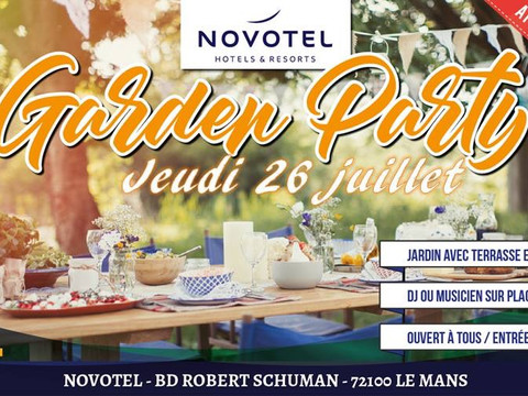 Garden Party @ Pool n Bar @ Novotel Le Mans. Afterwork de 18h à 22h ;-) Lieu raffiné et tendance ave