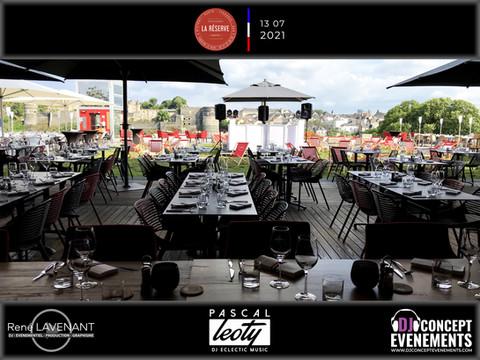 Soirée du 13 juillet 2021 @ La Réserve @ Angers (49) avec DJ CONCEPT EVENEMENTS
