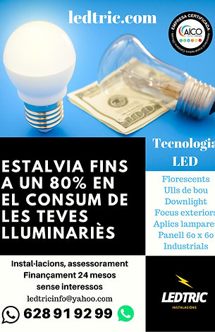 OFERTA CONVERSIÓ LED