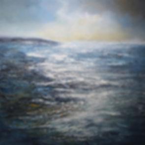 """Moonlit Bay, acrylic on canvas, 24""""x24"""""""