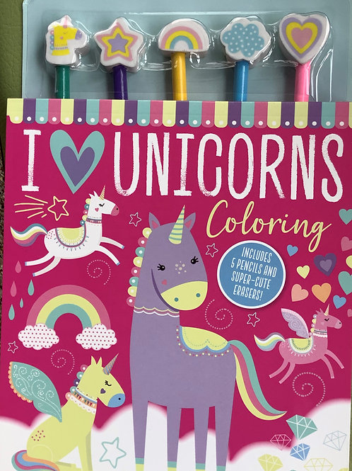 I love unicorns - coloring