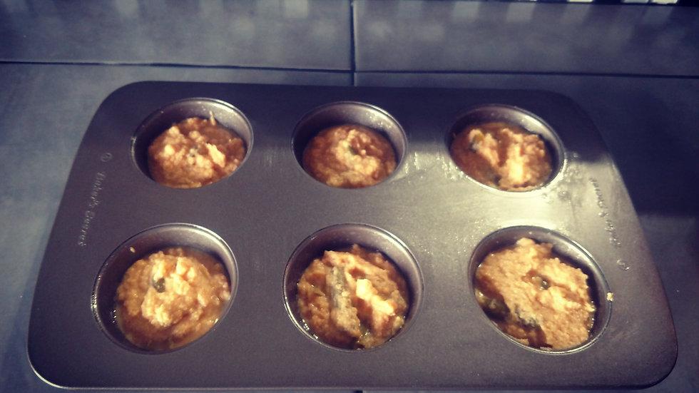 Pumpkin, Green Bean and Cinnamon Mini Muffin