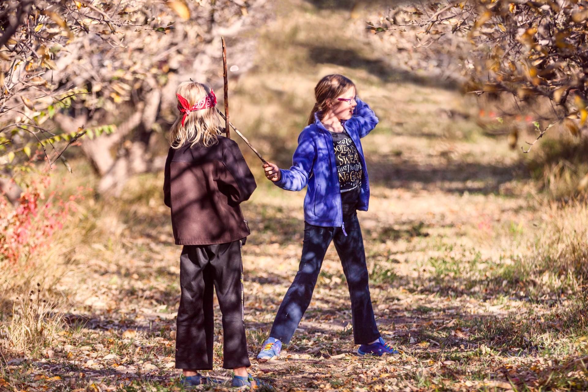 Fun in the orchard