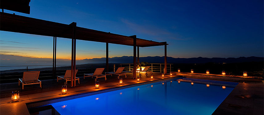 Private pool at your villa - Grootbos Nature Reserve