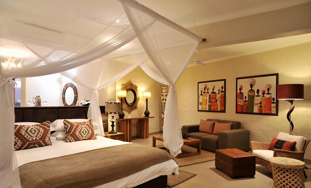 Luxury accommodation at Victoria Falls Safari Lodge