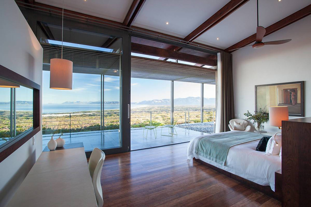 View from your private villa room at Grootbos