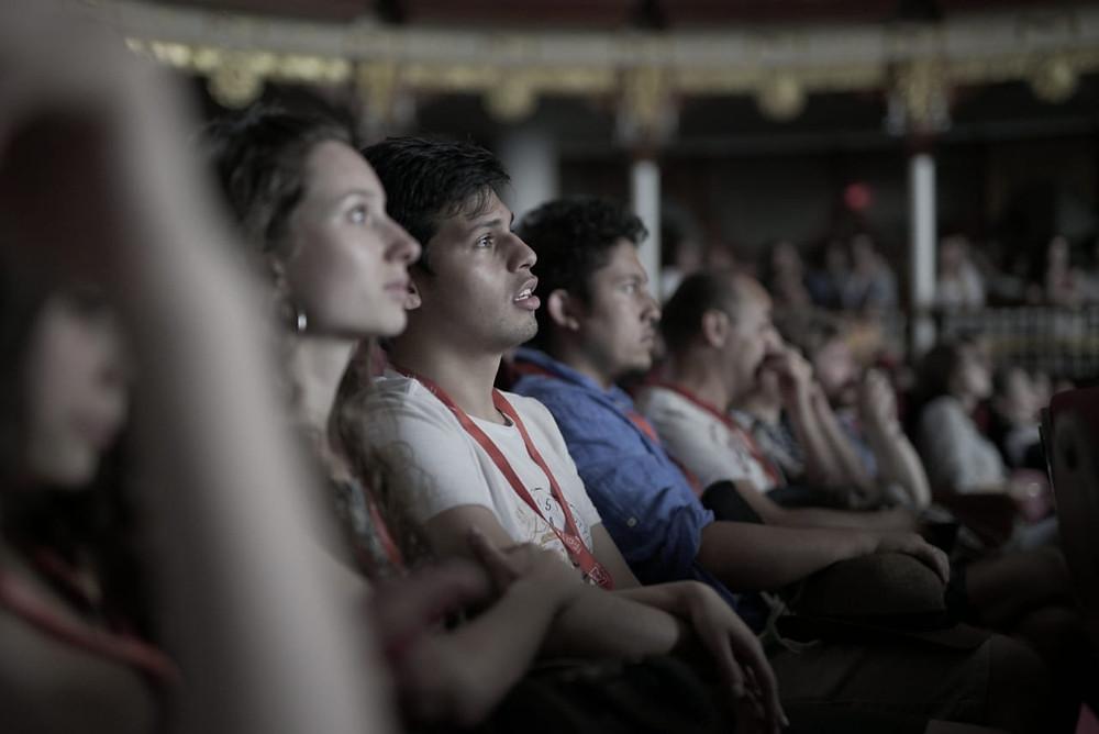 FOTO tomada por Jacob Valencia de los estudiantes en el evento