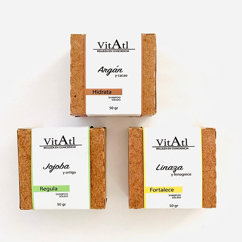 Shampoo Solido VitAtl (Varios Aromas)