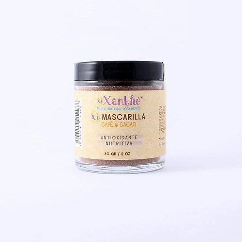 Mascarilla Facial en Polvo, Cafe y Cacao