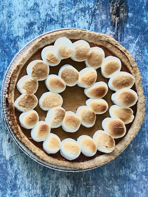 Sweet Potato Marshmallow Pie