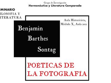 Poéticas de la fotografía: Benjamin, Barthes, Sontag