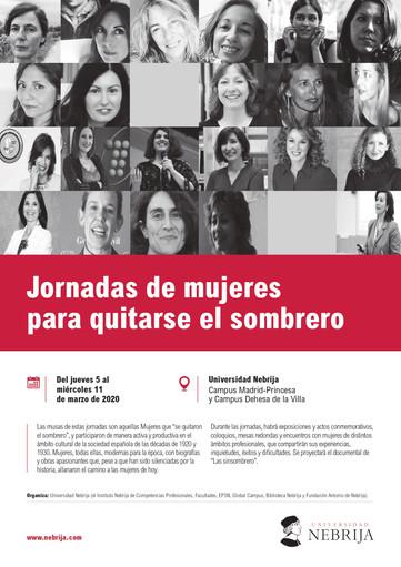 Coloquio Literario en las Jornadas de mujeres para quitarse el sombrero