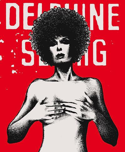Delphine Seyrig por Christopher Dombres (dibujo).