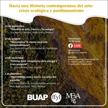 """Ciclo """"Hacia una Historia contemporánea del arte: crisis ecológica y posthumanismo"""" (online)."""