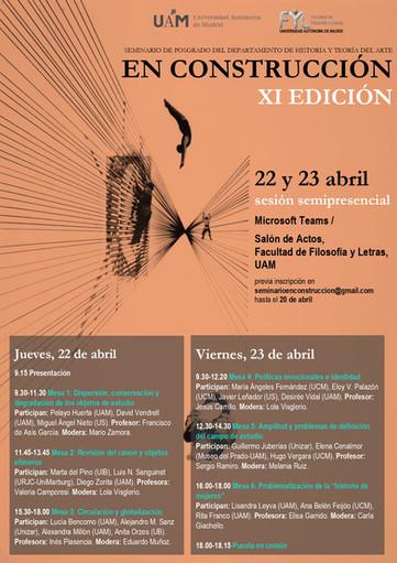 """2ª sesión del seminario de posgrado """"En Construcción"""", XI Edición"""