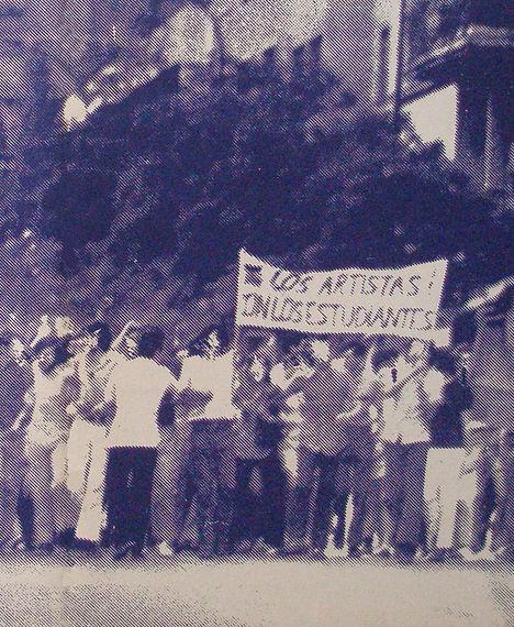 portada y contraportada de Viento del Pueblo (órgano de la Unión Popular de Artistas, UPA), nº3, diciembre 1972 (detalle)