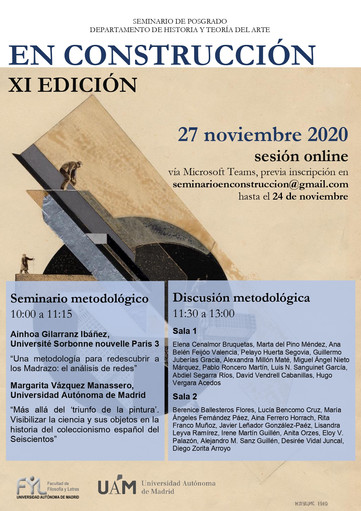 """Primera sesión seminario metodológico de posgrado """"En Construcción"""", XI Edición"""