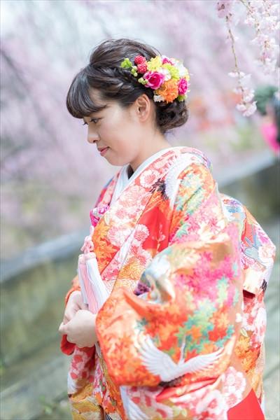 上田城と新婦